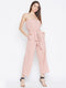 Berrylush Women Peach-Coloured Solid Basic Jumpsuit