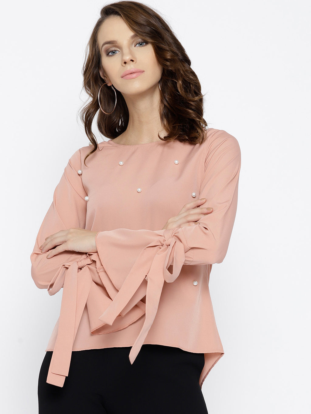 Dusty Pink Embellished Top