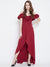 Berrylush Women Red Solid Maxi Dress