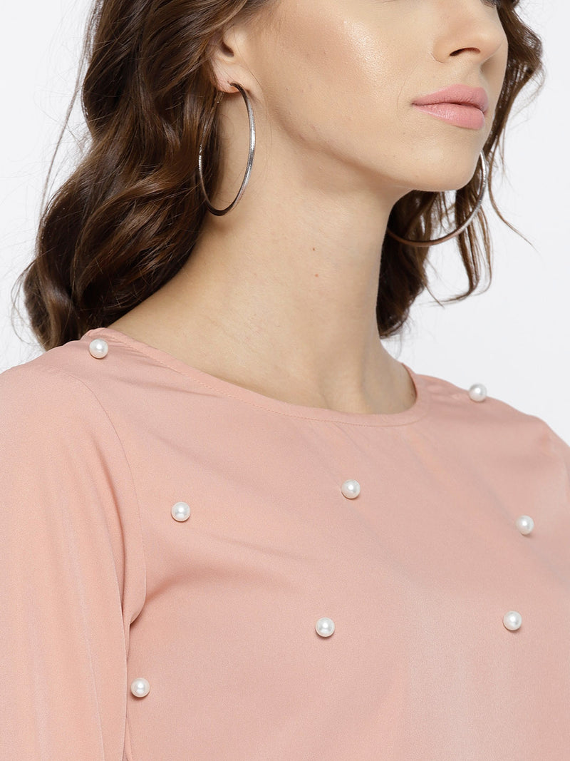 Dusty Pink Embellished Top - Berrylush