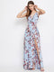 Berrylush Women Blue Printed Maxi Dress