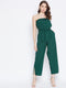 Berrylush Women Green Solid Basic Jumpsuit