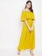 Berrylush Women Yellow Solid Maxi Dress