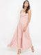 Berrylush Women Pink Solid Maxi Dress