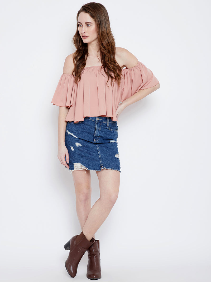 Berrylush Pink Bardot Top