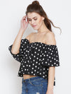 Black and White Bardot Top - Berrylush