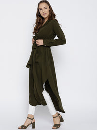 Olive Green Solid Maxi Top