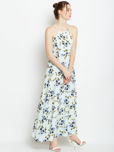 Green Printed Maxi Dress - Berrylush