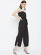 Berrylush Women Black Solid Basic Jumpsuit