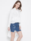 White Solid High-Low Top - Berrylush