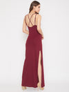 Berrylush Women Solid Maroon Maxi Dress