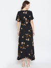 Black Floral Maxi Dress - Berrylush