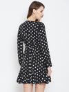 Black Polka Dot Mini Dress - Berrylush