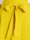 Berrylush Yellow Solid Flared Maxi Skirt
