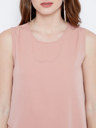 Pink Solid High Low Top - Berrylush