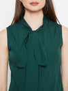 Berrylush Women Green Solid Top