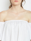 White Off shoulder top - Berrylush