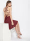 Berrylush Women Maroon Solid Stylish Back Mini dress