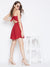 Berrylush Women Red Solid Fit and Flare Dress