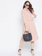 Berrylush Women Pink Solid Shirt Dress