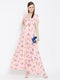Berrylush Women Pink Maxi Dress