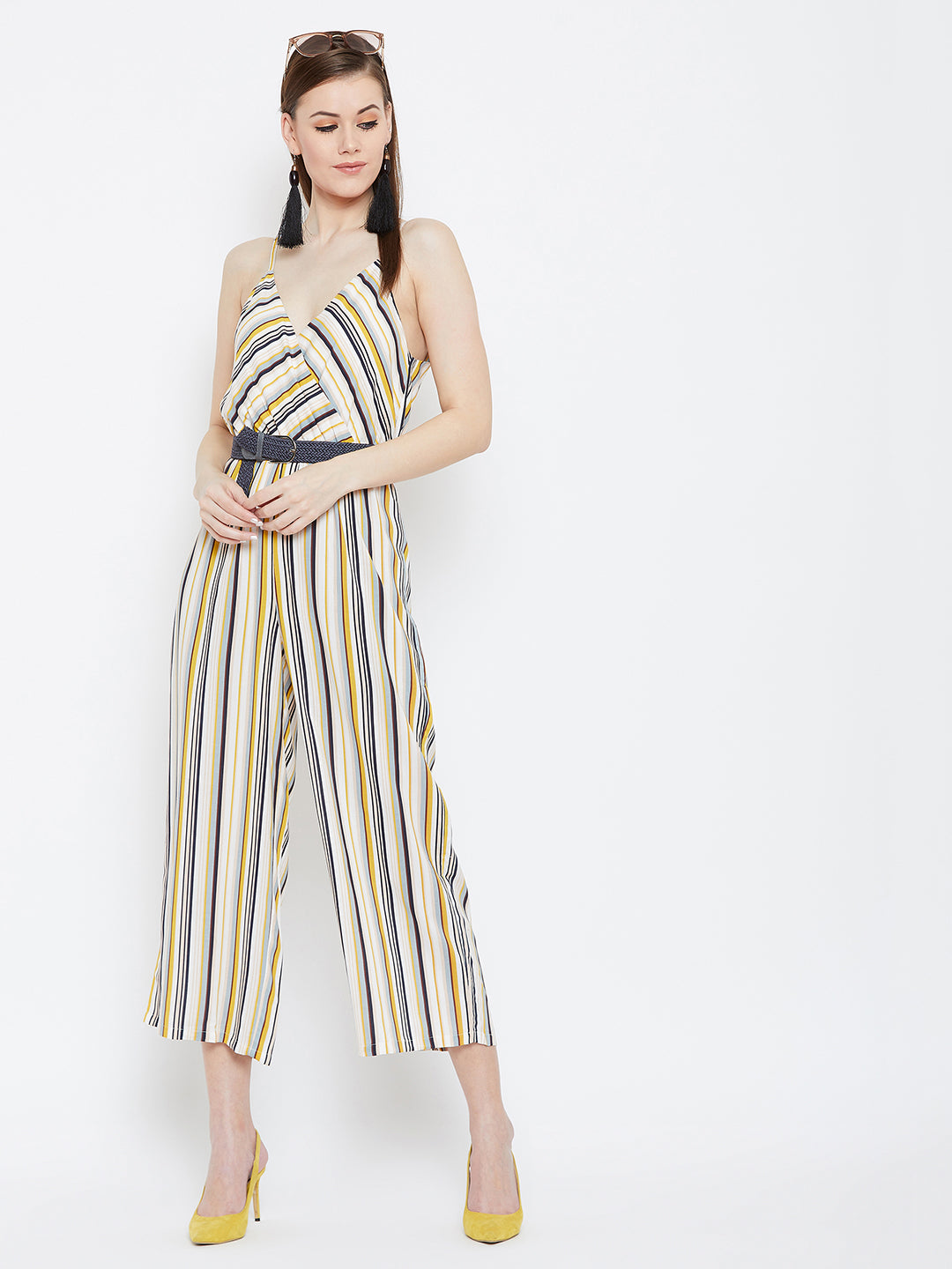 Multicolor Stripe Jumpsuit