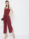 Berrylush Women Maroon Solid Basic Jumpsuit