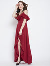 Red Solid Maxi Dress - Berrylush