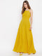 Berrylush Women Yellow Stylish Back Maxi Dress
