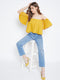 Berrylush Women Yellow Off Shoulder Top