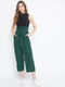 Berrylush Green Strap Jumpsuit With Styled Front And Smocked Back