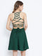 Berrylush Women Green Solid Stylish Back Mini dress