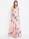 Berrylush Women Pink Floral Printed Maxi Dress