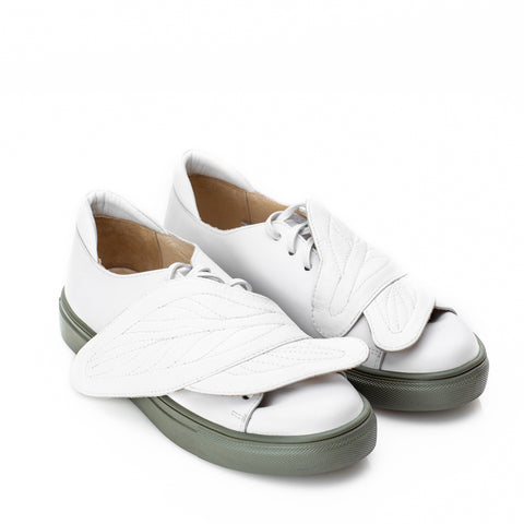 "Mihaela Glavan, White ""Hug Leaves""Sneakers Snk099A . 490"