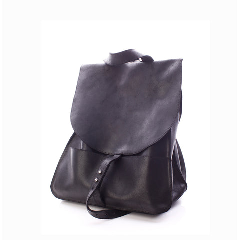 Mihaela Glavan, Black Leather Backpack 401