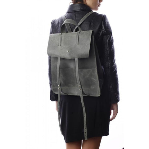 Mihaela Glavan, Gray Backpack 402