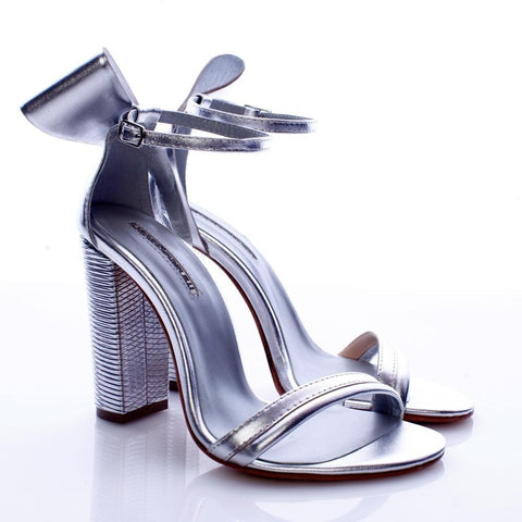 Mihaela Glavan, Silver BACK TO BOW Sandals S186 . 127