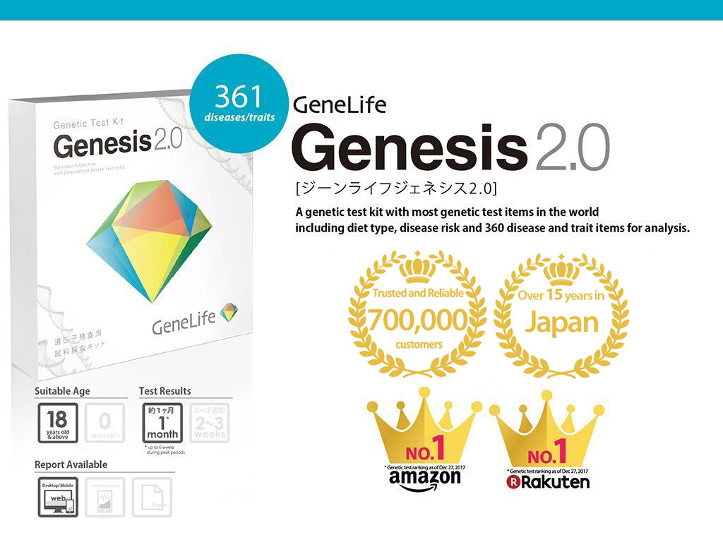 Genelife Genesis 2.0 DNA test singapore v2