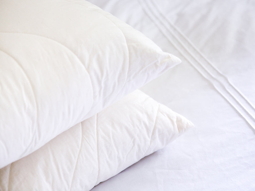 Pure wool washable pillows which are manufactured in the UK using British, organic wool by Urban Wool bedding