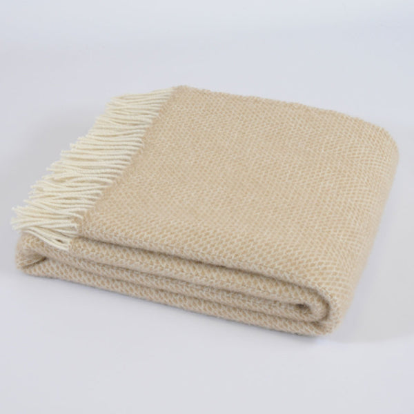 Beehive Beige wool throw