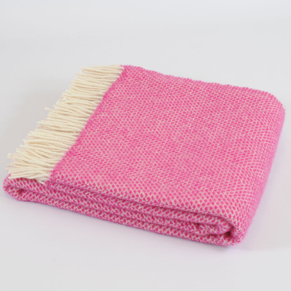 Beehive Cerise Pink wool throw