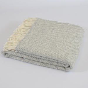 Beehive Grey wool throw