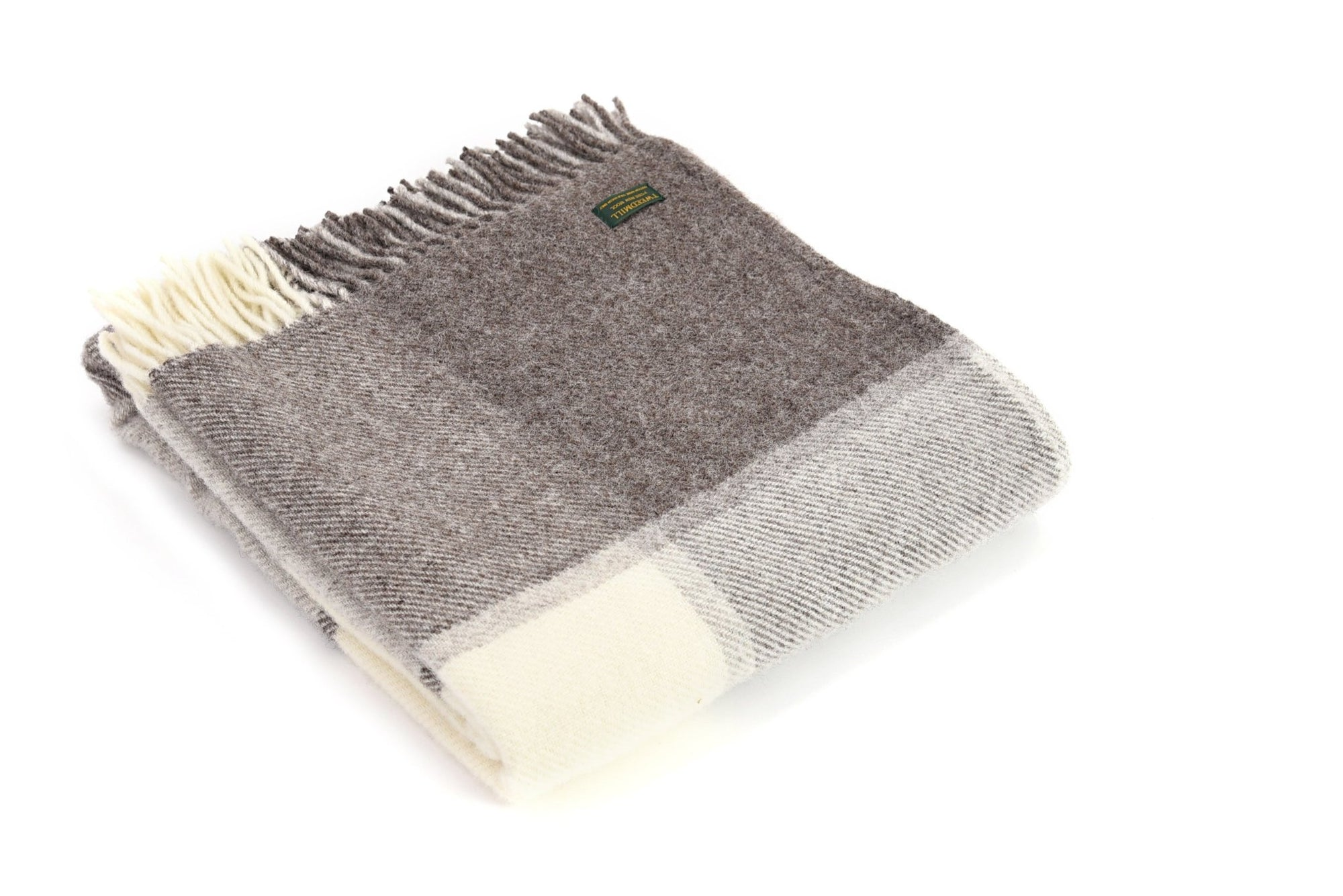 Tweedmill Block Check Jacob pure wool throw - Urban Wool