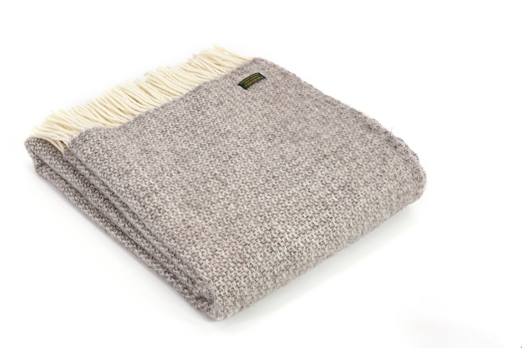 Tweedmill Illusion Natural pure wool throw - Urban Wool