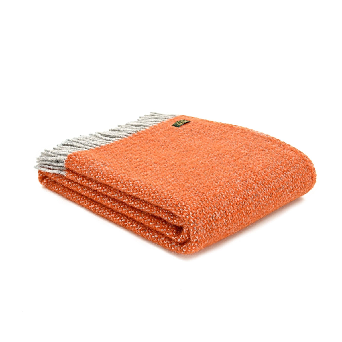 Tweedmill Illusion Pumpkin pure wool throw - Urban Wool