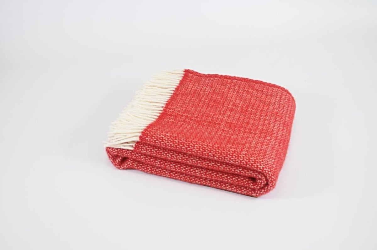 Tweedmill Illusion Red pure wool throw - Urban Wool