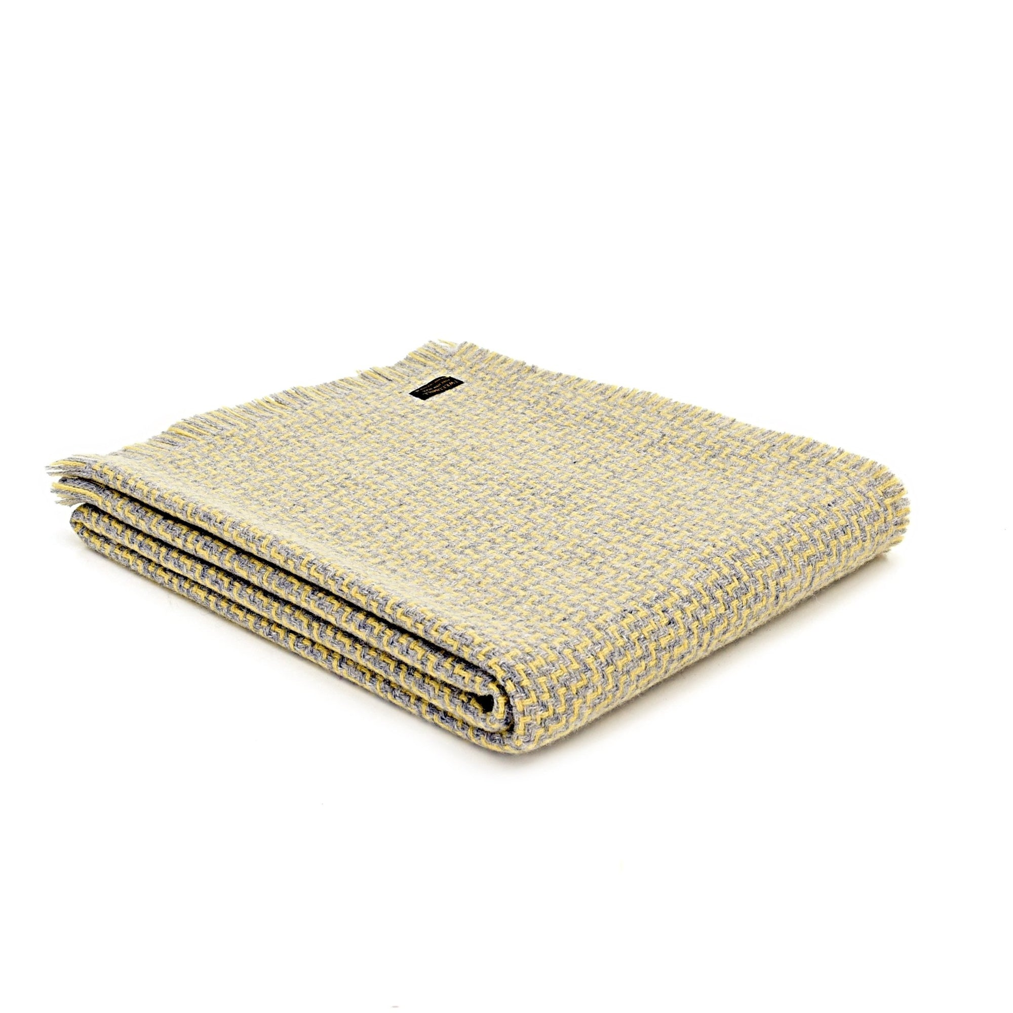 Tweedmill Luma Lemon pure wool throw - Urban Wool