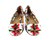 Salvatore Ferragamo Women's Capua White / Multi-color Leather Flats 0684310 (5.5 B) - LUX LAIR