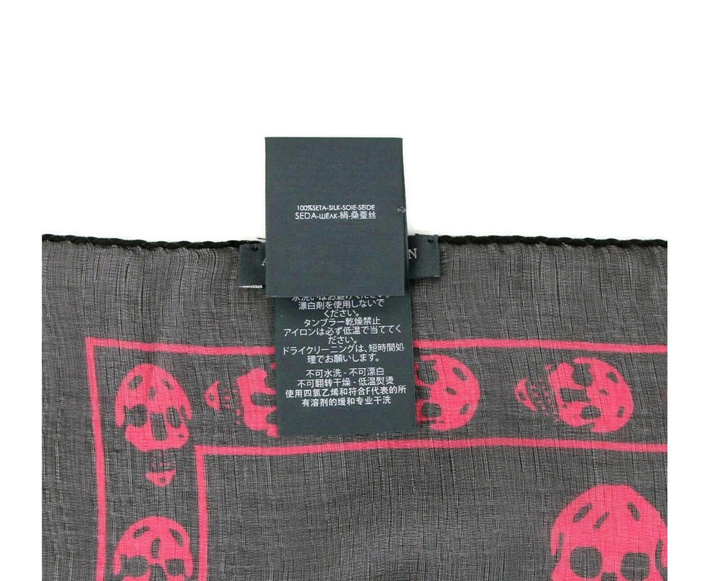 Alexander McQueen Scarf Black Chiffon - Made In Italy