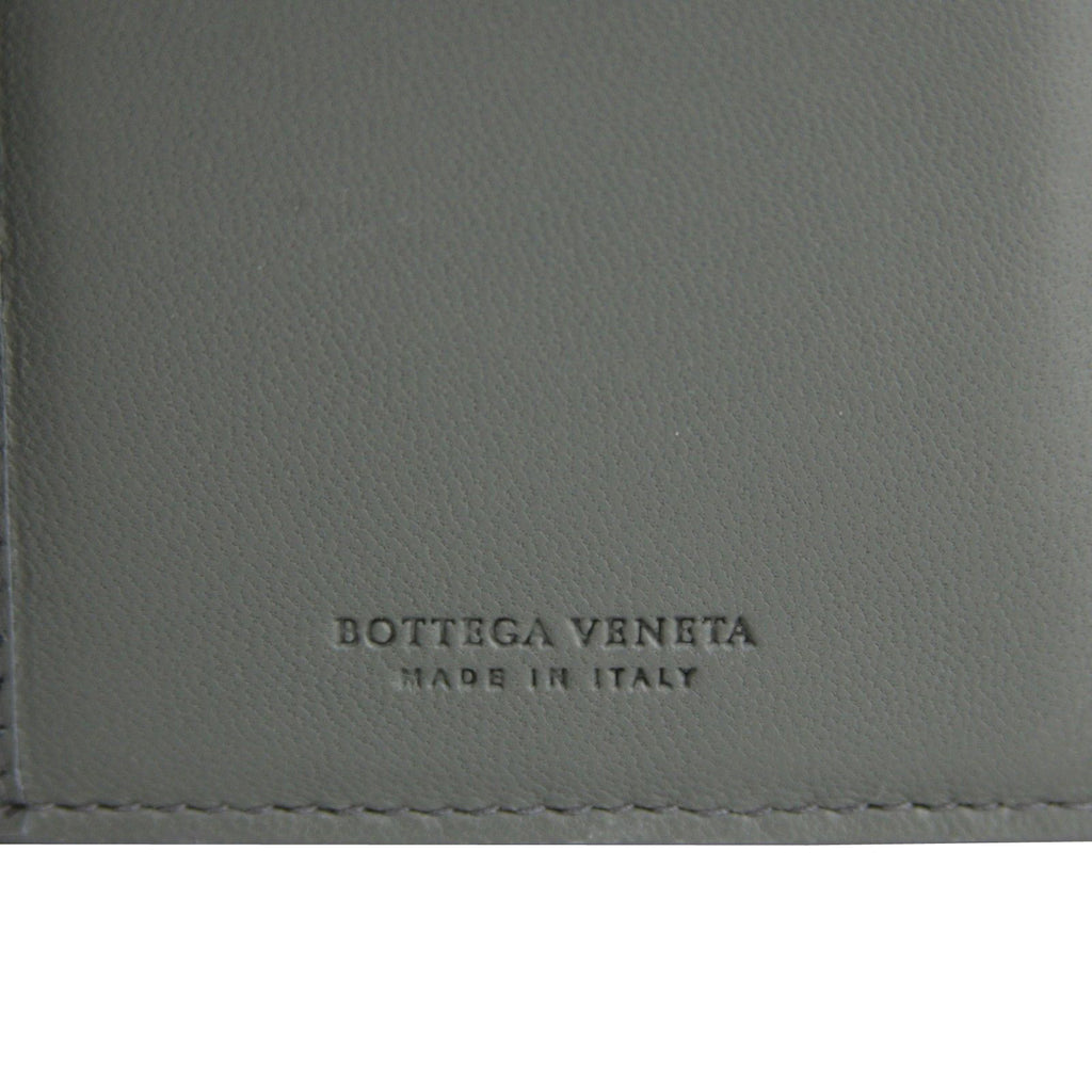 Bottega Veneta Women Intercciaco Dark Gray Leather Long Wallet 134075 8495